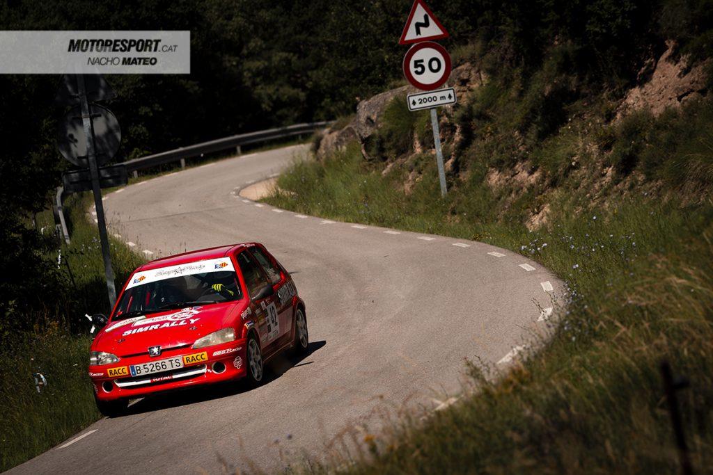Sergi Perez i Oscar Barrera peugeot 106 rally osona 2021